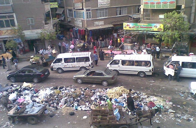Dirty Egypt: Egypt today is crowded with very high population densities. Cairo, specifically, is renowned for its pollution & grime, in stark contrast to the Egypt of the pre-Coup era with its roominess, clean feel  & liberal character. The notoriously decrepit taxi cabs replace the fancy cars.