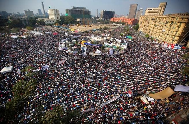 Caught between Tahrir and caretaker regime..There is a prominent dichotomy or a fraught binary between 