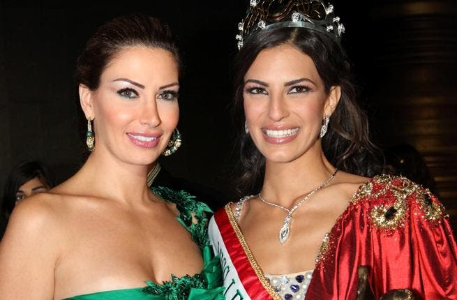 The ex Lebanese beauty queen Christina Sawaya presented the Expatriate Miss Lebanon contest 2011.