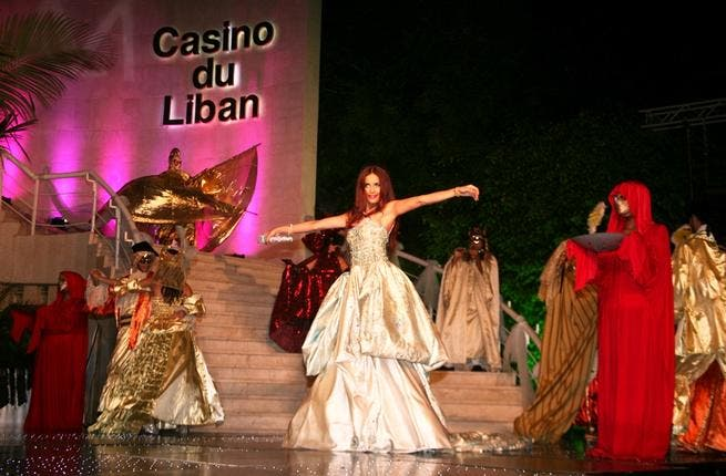 Artiste Dominique Hourani and her dance troupe enchant their audience at Casino du Liban in Jounieh, North of Beirut.