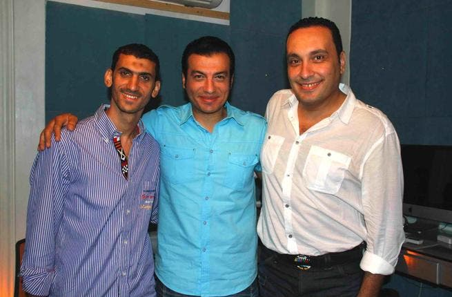 Singer Ehab Tawfik, Producer Wael Gharyani and Composer Ashraf Salem celebrate their new album of religious chants.
