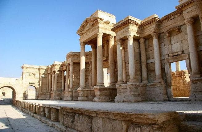 Casual looting: Syria is packed full of antiquities but in times of revolution these tourist attractions are more useful as cash for weapons. It's no way to treat you country's heritage and the FSA have come under fire for the black market trade.