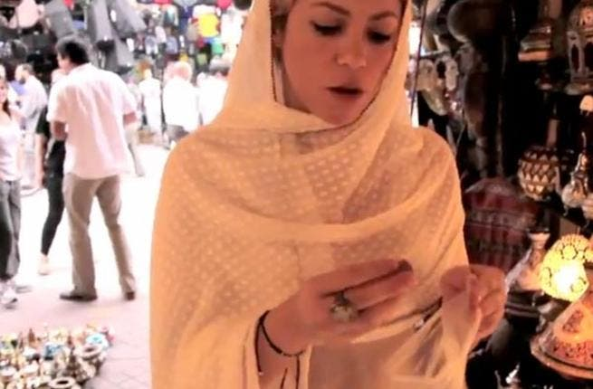 Holy Shakira! While in the region in a June tour, she has only just significantly released, early this Ramadan, a video featuring herself veiled in Morocco. She is captured shopping for sweets in a market, sporting traditional clothes, including the 'hijab 'during the Mawazeen Music festival.
