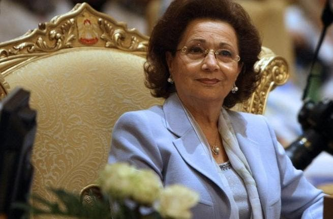 Egypt's Suzanne Mubarak, ex-first lady, while publicly advocating women's rights and children's health, founder of the Arab Women Organisation, she has a definite stake in her husband's estimated $70bn fortune.