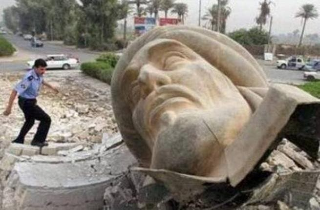 Baghdad bombs go for bust: The bust of Abu Jafar Mansoor, founder of Baghdad, was destroyed in a bomb blast in 2005. While the culprits are unknown, some accuse Mansoor of persecuting Shia Alawis, possibly motivating crimes against a statue. Still, Mansoor's wreckage united sects in lament as it is said to embody the glory of Arab nationalism.