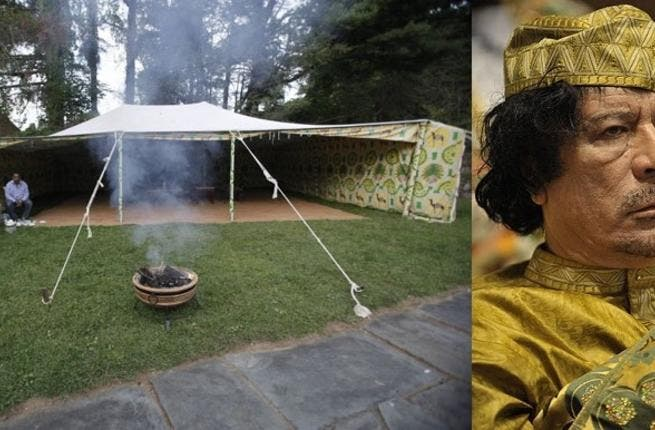 Gaddafi! Whether Gaddafi,Qadhafi or Kadafi as the spelling debate goes, this megalomaniac 'clown act' roaming about circus-like with his women and tent, has captured the imagination of all. He leaves behind apart from the destruction ZENGA ZENGA.