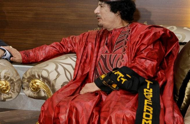 Bright colors and pomp: Gaddafi not one for making a quiet entrance: loves the spotlight, adopting an exaggerated almost pantomime dress style at times, confirming his reputation as eccentric and flamboyant.