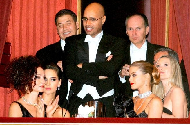 Saif al-Islam- He has been attacked by conservatives groups for a debauched lifestyle of women and partying.