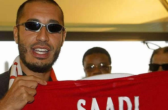Saadi Gaddafi - A former footballer who had a very brief career in Italy's Series A, he is a shareholder in his favorite football club -- Italy's Juventus -- and is also head of the Libyan national team.