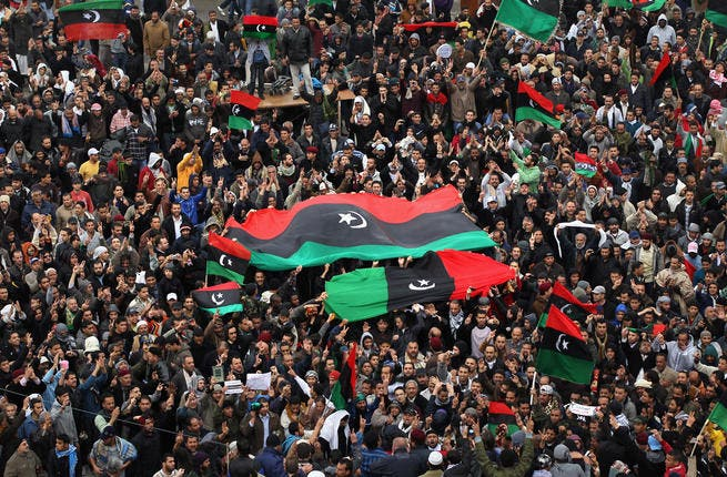 What protests? Insists the Libyan leader well into the Revolution. 'There are no protests' he persists as non-state coverage beams images of throngs on the streets. If Gaddafi still had a jot of credibility, he started to lose it now. Who are you? Where are you? He asked confusedly in speeches.