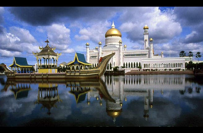 Brunei - officially the Nation of Brunei Darussalam,  is peaceful and knows it. Going as the Abode of Peace, this  plucky kingdom preserves tranquility alongside modernization. The tiny population are anything but militant:  'gentle,' promoting a culture of 'decorum and hospitality', Islam is the mainstay of this utopia. Sound like heaven?