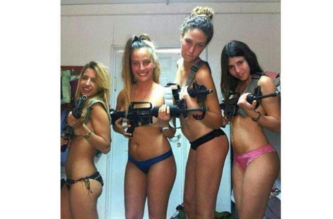 We're sure they can stop men dead in their tracks without the weapons.