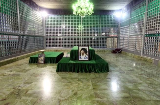 The shrine of the late founder of the Islamic Revolution Ayatollah Ruhollah Khomeini at Khomeini's mausoleum in Tehran.