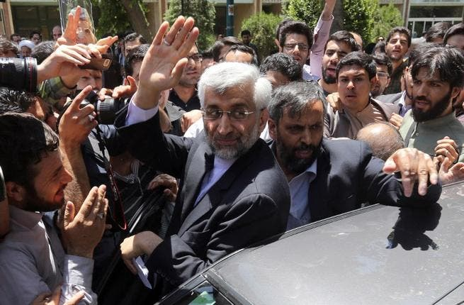 Nuclear bruiser: Saeed Jalili's outspoken manner has certainly spiced up the campaign, particularly the televised debates but it looks like the the nuclear negotiator will live to regret his abrasive style. At one stage he was an early favorite in the conservative camp but he's now languishing on 5%