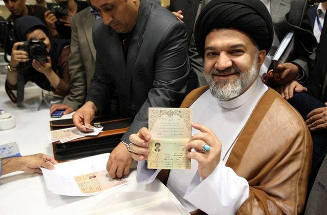 Conservative cleric Mohammad Bagher Kharazi heads the Iranian Hezbollah Organization and isn't considered a favourite.
