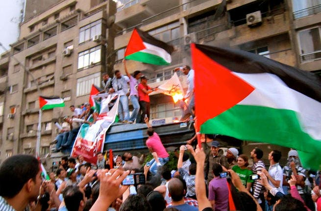 Neighbors from hell! From the Arab-Israeli wars, again adrift in a sea of enemies, Israel now faces the new Arab ferment on its borders. Israel's worst fears came to pass when a Cairo mob attacked their embassy after the revolution set in. With the Egyptian street is in charge, Jordan's Palestinian sympathizers are also chomping at the bit.