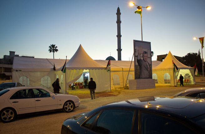 Slumming it with the people: Jordan's election candidates have mostly been in parliament for two or three terms already but felt no need to take austerity measures with their tents despite an ongoing recession in the Kingdom.