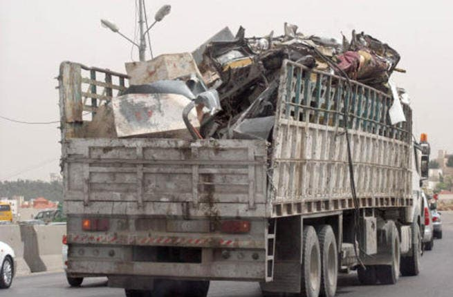 Metal and scrap truck collectors. This tradition of collecting 'junk' and metal scraps occurs all around the middle east landscape. In Jordan, lorries to the bidding of the 'scrap collector'. In Egypt, the collector rides around the neighborhood scouring or scavenging for recyclable materials in a rickshaw.