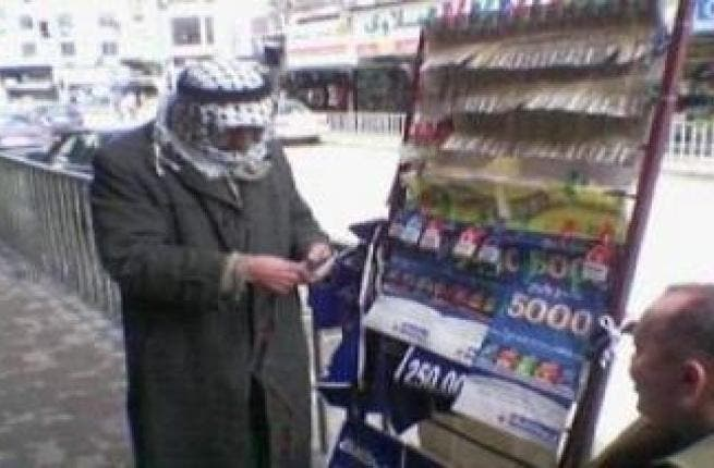 Lotto ticket man: This salesman of lottery tickets is a very common fixture in the Arab-scape. In spite of religious debate it's come to have an accepted place in society and sales. In Jordan, 'YaNassib' (lotto!) is even dressed up or tied in with charity for good measure.