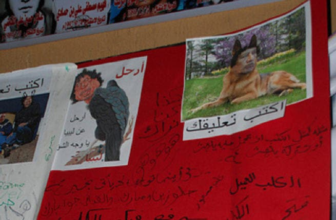 A dirty dog and a creepy raven bird. The Libyan people have no shortage of shameful insults to deliver to this