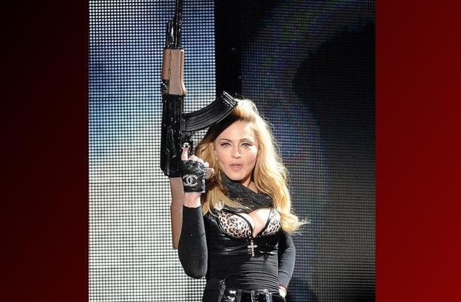 Madonna hit the Middle East all guns blazing, a region where live ammunition is not unheard of. She called it the Peace Tour, but brought AK47s on stage in both Israel and the UAE.
