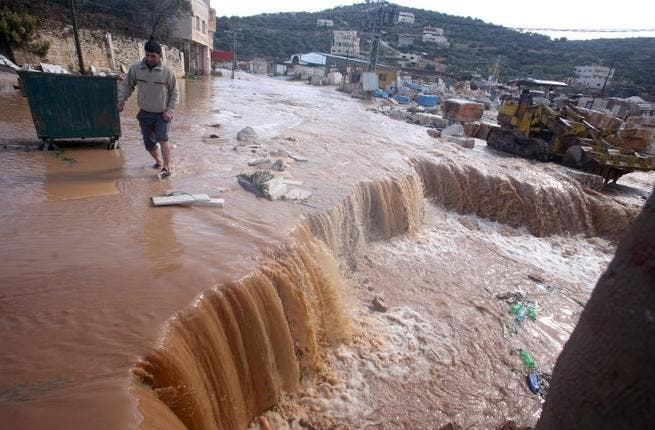 A river runs through it: The West Bank was a flood zone for much of the week, leaving 2 women dead in the wake of the Levant storms, after their car was swept away in flooding caused by unusual storms that have swept the Middle East with rain, snow and hail.