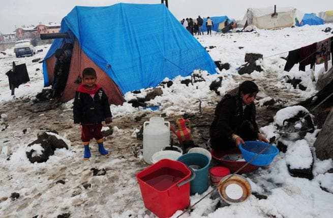 Hitting icy rock bottom: Turkey's refugee camps plummet into icy conditions. Floods swamped the camps in Turkey leaving Syrians already out in the cold facing further misery of increasing shortages of supplies, low temperatures, and record snowfalls.