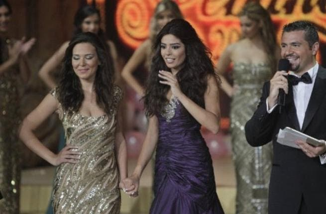 Miss Lebanon 2011 Yara Khoury Mikael reacts as she is named Miss Lebanon 2011 beauty contest.