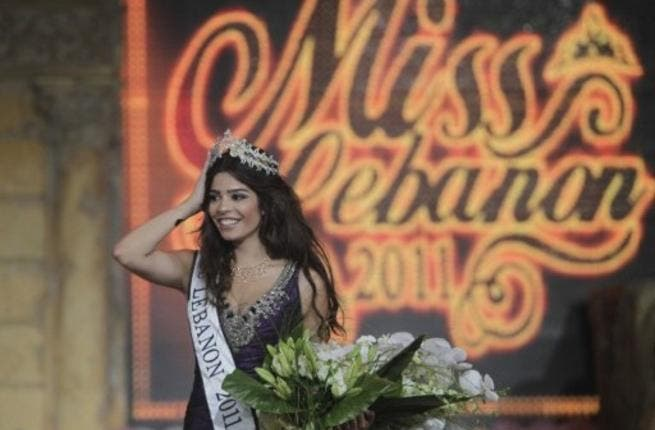 Yara Khoury Mikael is crowned after winning the Miss Lebanon 2011 beauty contest.