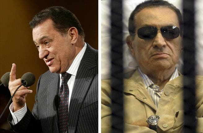 The shadow of the man he once was? Mubarak is likely to be remembered as a pale version of the virile former air-force man he once was in his prime - today, ailing and trolley-bound, pajama-clad and impotent.