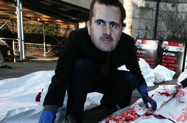 As Bashar al Assad follows in father's footsteps (the late Haafez al Assad had blood on his hands from Hama '82), keeping a deathly watch over his people as they are slaughtered, we ask what became of his Hippocratic oath. Assad Junior trained to save lives & sight as an eye doctor: medical care not military devastation was his calling.