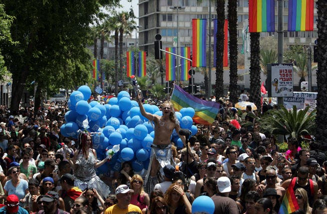 National and Gay pride in the same week: June 10th many Israelis were otherwise 'occupied' with Gay rights' celebrations