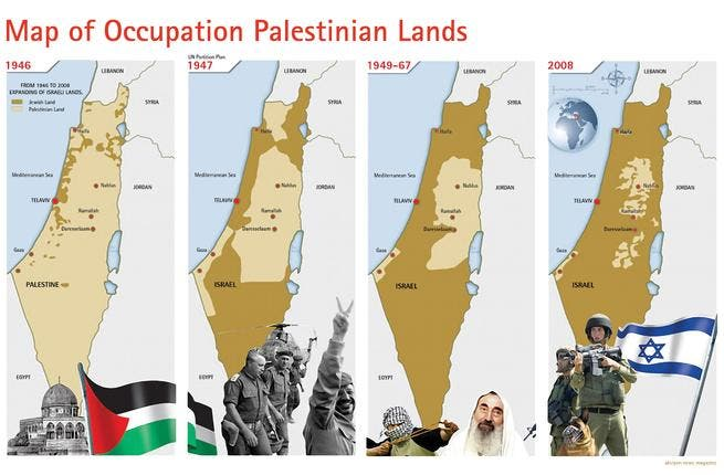 The story of the evolution (or devolution) of Palestine is that of a shrinking, now splintered reality. The full or proto-state  that the PA bids for will be drawn upon the borders of  '67 which include Gaza & East Jerusalem. Yet, the upgraded status contested would be a downgrade in land claim & legal recourse to compensation or right of return.