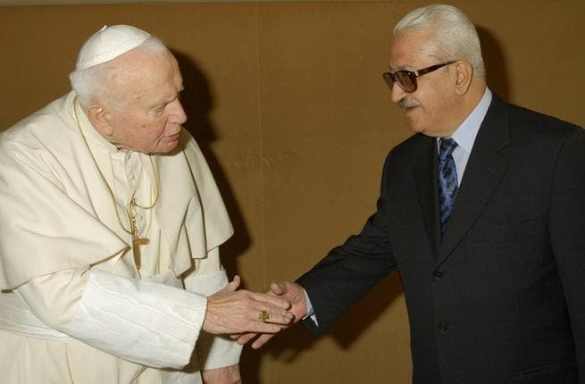 The Pope's almost-visit in '99 to Saddam's Iraq would have meant a violation of the Western-imposed no-fly-zone on the country. While this visit to Mesopotamia didn't happen, the Holy Father did receive then Iraqi Deputy PM Tarek Aziz--also a devout Catholic--in '03. All part of the plan to ensure that Hussein cooperated with weapons inspectors.