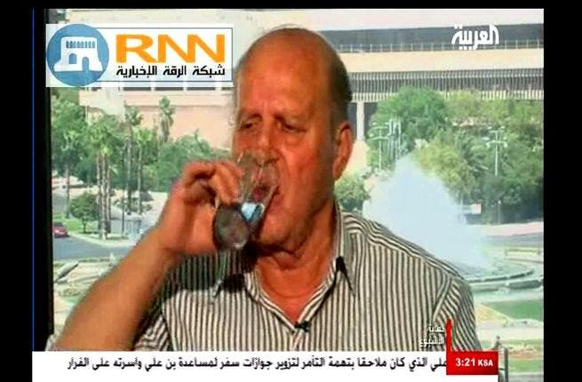 Ramadan transgressions: To add fuel to religious fire, the faces of the regime flout Ramadan openly: Ahmad al-Hajj Ali, a strong political advocate for the Syrian regime, is aired in a live show by Al Arabiya, drinking water in the hours of fasting, showing a lack of respect for the 