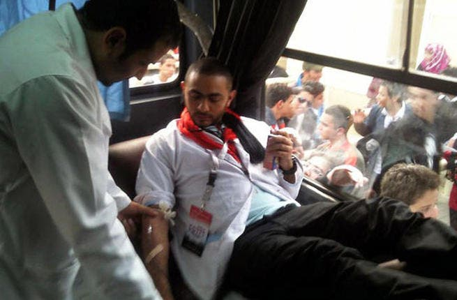 Have blood; will donate: When vandals burned Cairo's Arab Contractors Blood Bank to the ground, Egyptian superstar Tamer Hosny was the first to sign up to donate blood. He asked all of his fans to follow suit. Talk about the power of celebrity to drive something else than mere ticket sales.