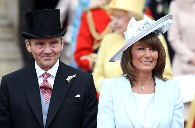 Father and Mother of the Blushing Bride: Carol and Michael Middleton both once in the air industry, flying now high in Royal Wedding bliss, having landed in a much better position than their self-made family business affluence might have taken them.
