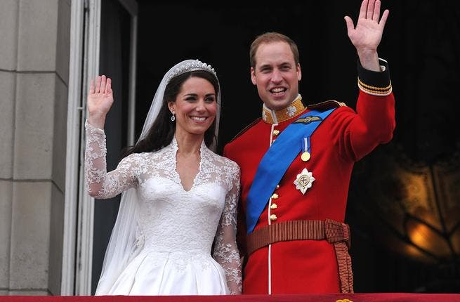 Kate wows the crowds: Kate does not conceal her excitement, just made royal in the last hour, as she steps onto the balcony to greet the throngs of people amassed below, and visibly lets out a 'wow'. Her hubbie, an old hand at this, can enjoy her appreciation.
