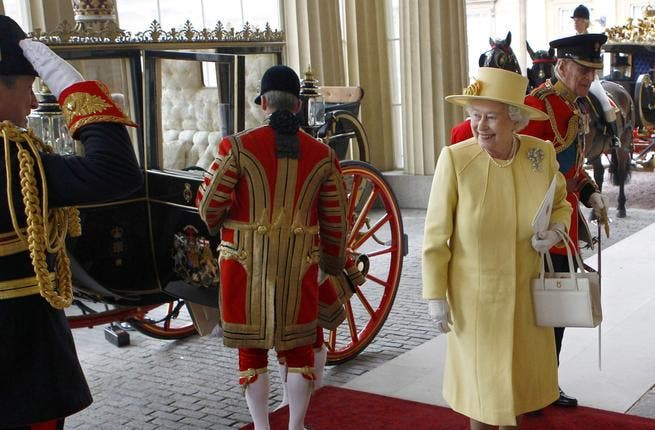 Straight from the Queen's Mouth: fresh out of the ceremony and stepping out of her Royal Carriage, the Queen volunteered that 'it was amazing' - when asked by clamoring reporters for her thoughts on the day so far.