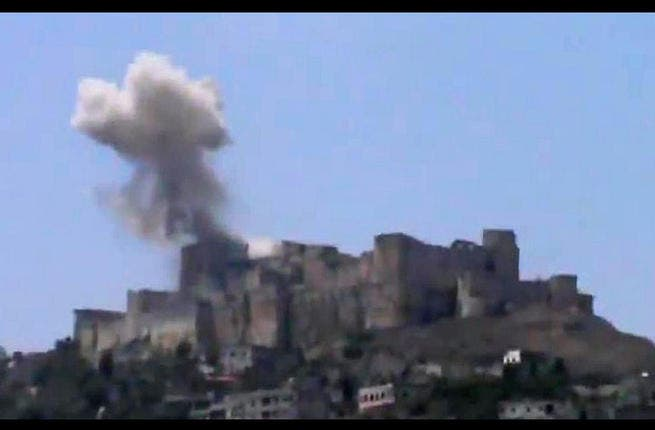 Ramadan - the month of generosity and goodwill - has visited an unholy heap of horrors on Homs. Syrian regime jets reportedly rained down seasonal greetings of destruction on the country's great Crusader fort, Friday 12th July, as the front line in the battle for Homs shifted to the world heritage site. (AFP PHOTO / YOUTUBE)