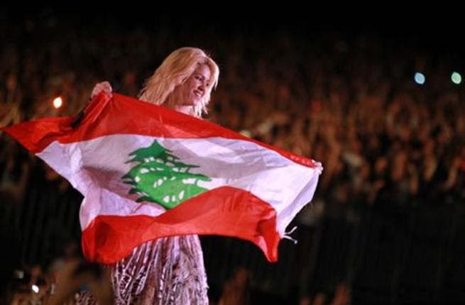 Despite her pride in her Lebanese heritage this is the 1st  performance in the 'fatherland', days before Morocco and after the UAE. Sometimes this more-Latina-than-Lebanese is claimed as Syrian -  Syria and Lebanon have found something else to disagree over: maybe they can settle on Greater Syria.