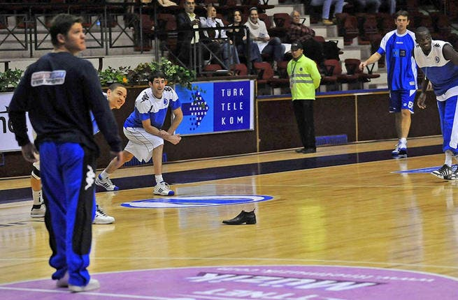 These fans really know how to kick it on the court: During a 2009 basketball game between Turkey and Israel, Turkish fans had a ball (or rather, a shoe!) pummeling Jewish players with their own kicks as the team warmed-up on the court.