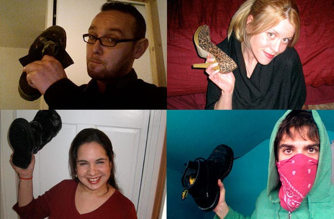 Virtual shoe crimes: Can't make it to the big press conference to chuck a cobbler at a politician or leader you despise? No worries! Websites as thankyouforthrowingyourshoe.com allow people to post pictures of themselves with their preferred shoe (weapon) of choice in solidarity with those soles whose footwear hurling hit headlines globally.