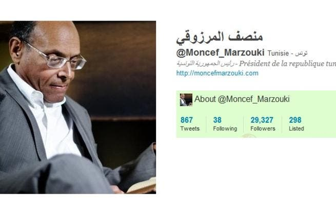 @Moncef_Marzouki: another good will tweeting politician who supplies a dual track of Arabic & French posts. This Tunisian human rights activist, physician, lawyer-newly elected interim President of Tunisia tweets updates on the leading Arab Spring Tunisia. He even includes traffic reports, tweeting when a road was closed. He blogs too.