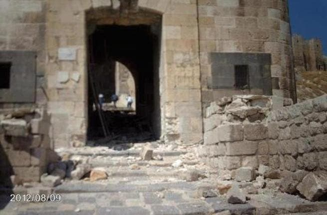 Aleppo's citadel: shelled by government forces, the medieval fortress didn't stand a chance against modern warfare tactics. The iron gates are reportedly destroyed although no word yet on the 5,000 year old temple.