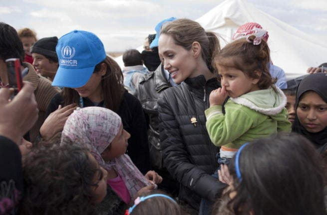 Hollywood's favorite do-gooder, Angelina Jolie, pitched up in Jordan's Zaatari refugee camp back in September. The UN special envoy returned in December, having dug deep for a $50,000 donation for the purchase of family tents.