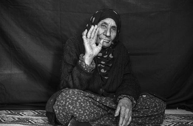 The amount of indiscriminate shelling in Syria has meant everyone from newborns to the very old have had to flee. Salma (not her real name) is over 100 but had to walk through the border to neighboring Iraq. She came with her family of all ages all desperate to escape the bombs. (Photo UNHCR/ B. Sokol)