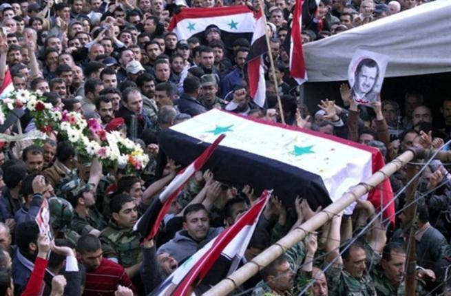Tartus: April 26, 2011, the funeral of Syrian Ahmed Ali Muhammad in the village of Hamush Ruslan. In the town or village, communal gatherings as funerals can ignite a whole community in no time.