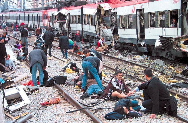 March 11, 2004: It is thought that al-Qaeda was responsible for the bombing of the Madrid commuter train system. 191 killed and over 2000 injured.