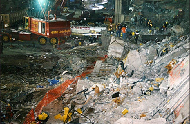 1993 World Trade Center bombing occurred on February 26, 1993. Ramzi Yousef parked a rented van full of explosives in the parking garage beneath the World Trade Center. The explosion killed 6 and left over one thousan wounded.